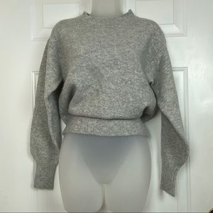 H&M grey Wool crewneck sweater SOFT size xs